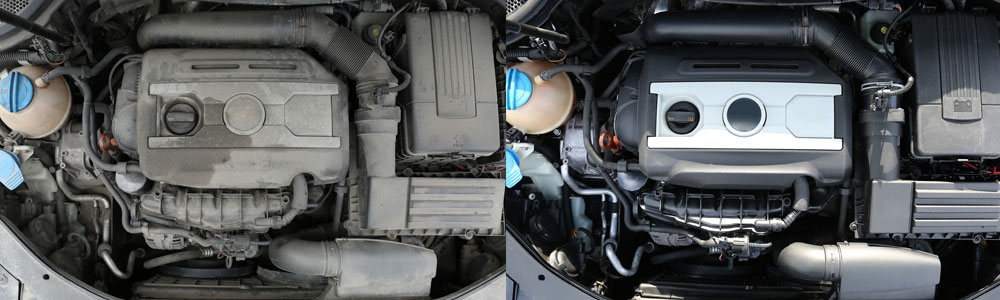Clean Engine Before After